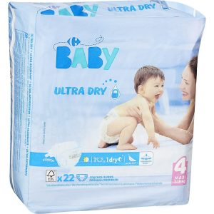 Couches Ultra Dry T4 : 7-18 kg CARREFOUR BABY