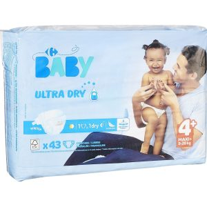 Couches Ultra Dry T4+ : 9-20 kg CARREFOUR BABY