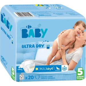 Couches Ultra Dry T5 : 11-25 Kg CARREFOUR BABY