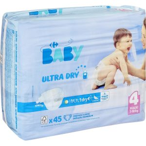Couches taille 4 maxi : 7-18 kg CARREFOUR BABY