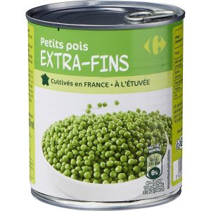 Petits pois extra-fins CARREFOUR 800g