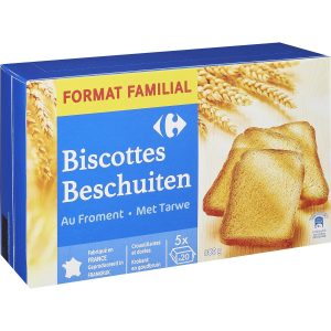 Biscottes au froment 800G